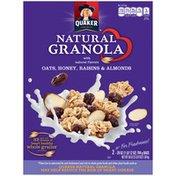 Quaker Natural Cereal Oats Honey & Raisins 28 Oz Granola