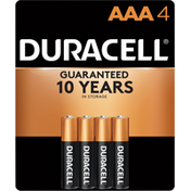 Duracell Batteries, AAA, NiMH, 1.2 V, 4 Pack