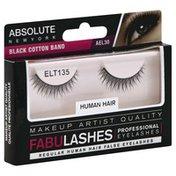 Absolute New York False Eyelashes, Professional, Human Hair, AEL 30