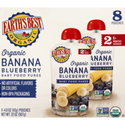 Earth's Best Baby Food Puree, Banana Blueberry, Stage 2, 6+ Months