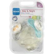 MAM Pacifier, Day & Night, 6+ Months