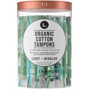 L. Tampons Light/Regular Absorbency Duo Pack