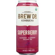 Brew Dr. Kombucha Kombucha, Organic, Superberry