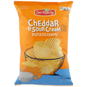 Our Family Cheddar & Sour Cream Potato Chips