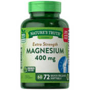 Nature's Truth Magnesium, Extra Strength, 400 mg, Quick Release Softgels