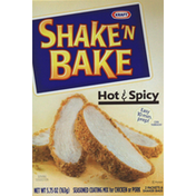 Shake 'N Bake Seasoned Coating Mix, for Chicken or Pork, Hot & Spicy