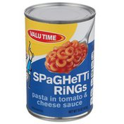 Valu Time Spaghetti Rings Pasta In Tomato & Cheese Sauce