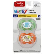 Playtex Pacifiers, Silicone, Binky, Classic