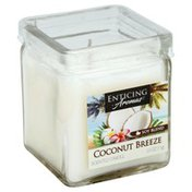 Enticing Aromas Scented Candle, Coconut Breeze, Soy Blend