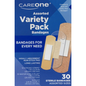 CareOne Variety Pack Bandages