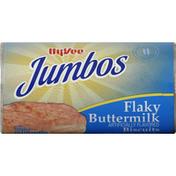 Hy-Vee Biscuits, Flaky, Buttermilk, Jumbos