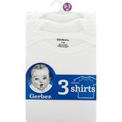 Gerber Slip on Shirts, 0-3 Months