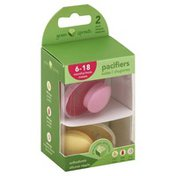 green sprouts Pacifiers, Orthodontic Silicone Nipple, 6-18 Months