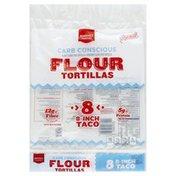 Market Pantry Tortillas, Flour, Carb Conscious, 8-Inch Taco