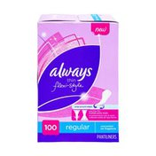 Always Thin Flexi-Style Unscented Regular Pantiliners - 100 CT