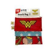 Bumkins 3 Piece DC Comics Wonder Woman Reusable Sandwich Bags