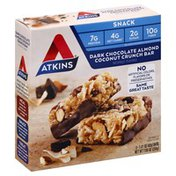 Atkins Snack Dark Chocolate Almond Coconut Crunch Bar - 5 CT