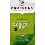 Camerons Coffee, Organic, Ground, Medium Roast, Roastmaster's Blend