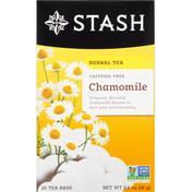 Stash Tea Herbal Tea, Caffeine-Free, Chamomile, Tea Bags