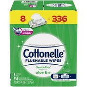 Cottonelle GentlePlus Flushable Wet Wipes with Aloe & Vitamin E Flip-Top Pack