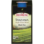 Red Rose Organic Tanzania Single Estate Blend Black Tea 1.41 Oz Tea Bags