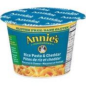 Annie's Canadian Gluten Free Rice Pasta & Cheddar Mac & Cheese Micro Cup Mac & Cheese