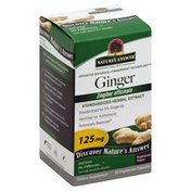 Nature's Answer Ginger, Standardized Herbal Extract, 125 mg, Vegetarian Capsules