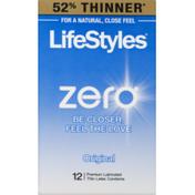 LifeStyles Zero Thin Latex Condoms Original