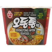 Ottogi Noodle, Instant, Asian Style, Odongtong Myon (Seafood), Spicy Flavor