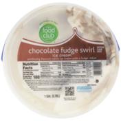 Food Club Chocolate Fudge Swirl Vanilla Ice Cream With A Fudge Ribbon