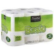 Essential Everyday Bathroom Tissue, Basic, Two-Ply