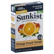 Sunkist Drink Mix, Low Calorie, Orange Peach Mango