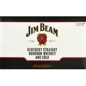 Jim Beam Bourbon and Cola, Whiskey, Kentucky Straight