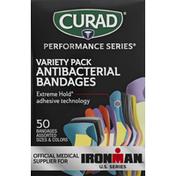 CURAD Bandages, Antibacterial, Variety Pack