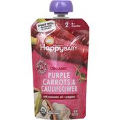 Happy Baby Organic Stage 2 Carrot Cauliflower Oreg Baby Food