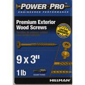Power Pro Screws, Wood, Exterior, 3 Inch