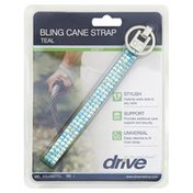 Drive Cane Strap, Bling, Teal