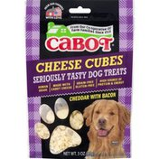 Cabot Dog Treats, Cheese Cubes, Cheddar with Bacon, Pouch