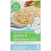 Food Club Instant Oatmeal