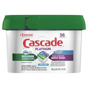 Cascade Platinum + Cleaner Actionpacs Dishwasher Detergent Pods, Fresh