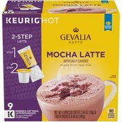 Gevalia 2-Step Mocha Latte Espresso K-Cup® Coffee Pods & Froth Packets Kit