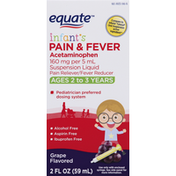 Equate Pain & Fever, Infant's, Grape Flavored