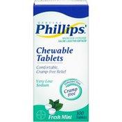 Philips Fresh Mint Chewable Tablets Saline Laxative/Antacid