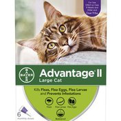 Advantage Large Cat Over 9 lbs Starts Working on Contact Once A Month Topical Flea Prevention for Cats