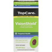 TopCare Visionshield With Lutein & Zeaxanthin Helps Support Eye Health Dietary Supplement Softgels