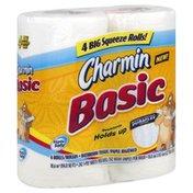 Charmin Bathroom Tissue, Big Squeeze Rolls, 1 Ply