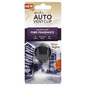 Enviro Scent Car Fragrance Diffuser, Onyx Lights, Auto Vent Clip