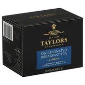 Taylors of Harrogate Tea, Breakfast, Decaffeinated, Sachets