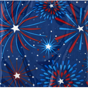 Party Creations Napkins, Fireworks, 2 Ply