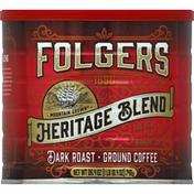 Folgers Coffee, Ground, Dark Roast, Heritage Blend